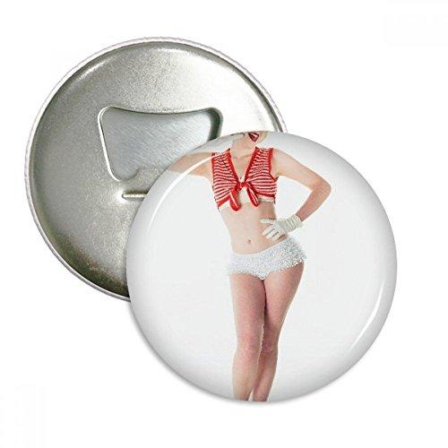 Weiß BH Lange Beine Hot Sexy Rund Flaschenöffner Kühlschrank Magnet Pins Badge Button Geschenk 3