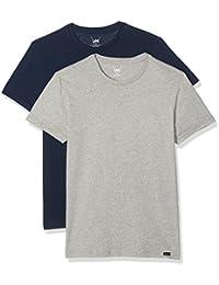 LEE Twin Pack Crew, T-Shirt Homme (lot de 2)
