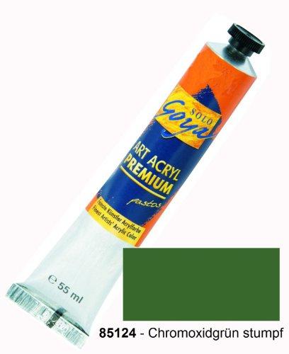 Solo Goya 85124 Art Acryl Premium pastos Tube, 55 ml, Chromoxidgrün stumpf