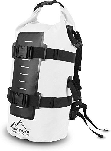 Rucksack Wasserdichter Trekking-Rucksack aus LKW-Plane, 40 Liter Weiß