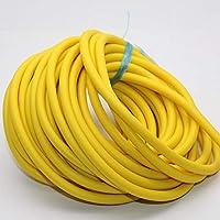 NUJA Pieza de tamaño 3060 3070 4070 Caucho Natural Banda de látex Tubo de tracción por Cable Tourniquet Vendas del Ejercicio de Cuerda 1pc Banda de Resistencia 10M A (tamaño : 4070 Yellow 10M)