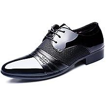 HYLM Los zapatos de los hombres de negocios del cordón de zapatos de boda zapatos de vestir de los hombres grandes , black , 41