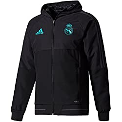 adidas PRE JKT Chaqueta Real Madrid CF Temporada 2017/2018, Hombre, Negro (Gripur), S