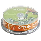 TDK DVD-RW 8cm 10-P Cakebox 4,7GB - Pack 10 DVD-RW 1,4 GB