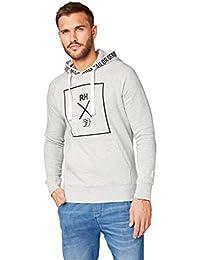 TOM TAILOR Denim Strick   Sweatshirts Revolverheld  Hoodie mit  Schrift-Print auf der Brust bfc68f1657