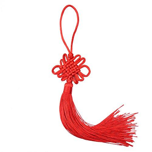 (10 Stück 8,5 Zoll Handgemachte Seidige Glasschlacke Chinesische Quaste mit Satin Seide Machte Chinesische Knoten für Tür und Auto Übergabe Dekoration, DIY)