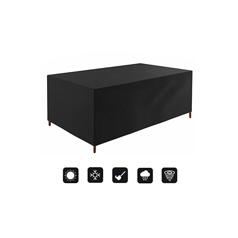 Waterproof Covers Vinteky Heavy Duty Waterproof Rattan Cube Cover Outdoor Garden Furniture...