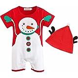 Infantil Bebé Niños Niñas Bebitos Navidad Ropa Gorro Conjunto + Sombrero Con Astas