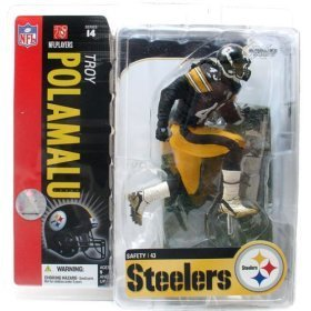 McFarlane Toys 6 NFL Series 14 - Troy Polamalu Black Jersey (Troy Jersey Polamalu)