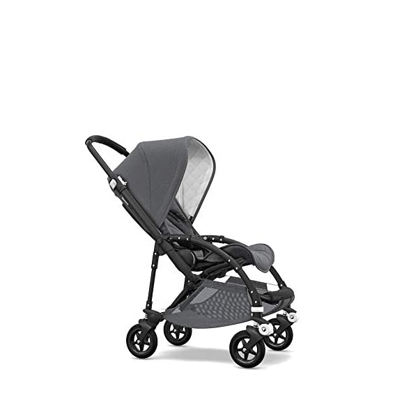 Bugaboo Bee 5 Classic Collection Pushchair Black Chassis - Grey Melange Bugaboo  1