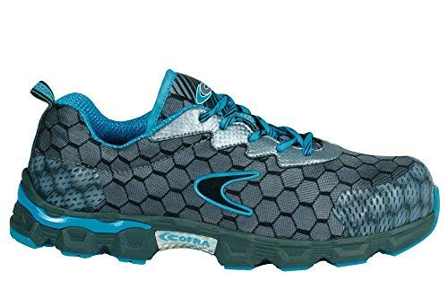 015c9af6e66 Cofra JE012-000.W42 Safety Shoes Lowball S1 P SRC Size 42 in Grey/Blue
