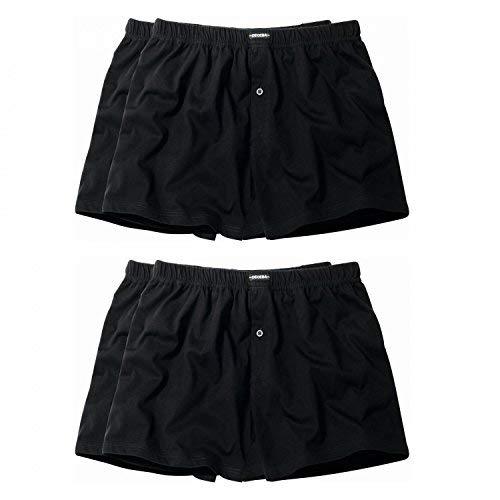 4 er Pack Ceceba Jersey Boxershorts Pant Unterhosen Herren schwarz Größen XL - 8XL, Grösse:M - 5 - 50;Farbe:schwarz