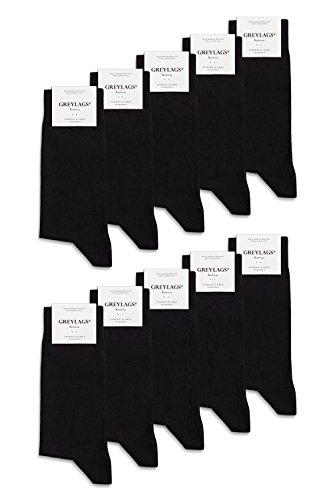 Greylags Businesssocken Socken schwarz für Damen und Herren, Schwarz, 39-42 10er Pack (Reine Mädchen-socken)