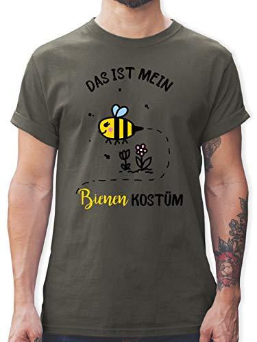 Dies Mein Shirt Ist Kostüm - Karneval & Fasching - Das ist Mein Bienen Kostüm - 3XL - Dunkelgrau - L190 - Herren T-Shirt und Männer Tshirt