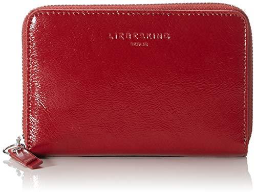 Liebeskind Berlin Damen Glossy Slg - Cara Wallet Medium Geldbörse, Rot (Dahlia Red), 2x10x16 cm