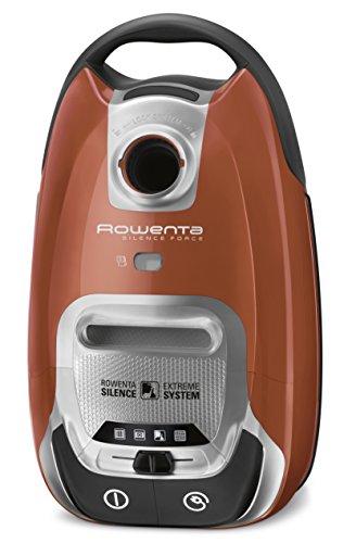 Rowenta Silence Force RO6432 - Aspirador con etiqueta energética AAAA, triple filtración con bolsa de 4,5 l de capacidad, cepillo parquet y ranuras, tubo telescópico, nivel de ruido 66 dB(A)