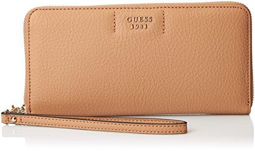 Guess Damen Slg Wallet Geldbörse, Braun (Tan), 2x10x21 centimeters (Brieftasche Guess Braun)