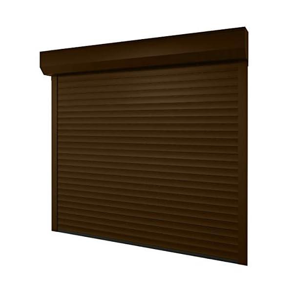 Puerta-de-garaje-de-250-x-250-cm-medida-de-la-luz-232-x-220-cm-color-marrn-claro