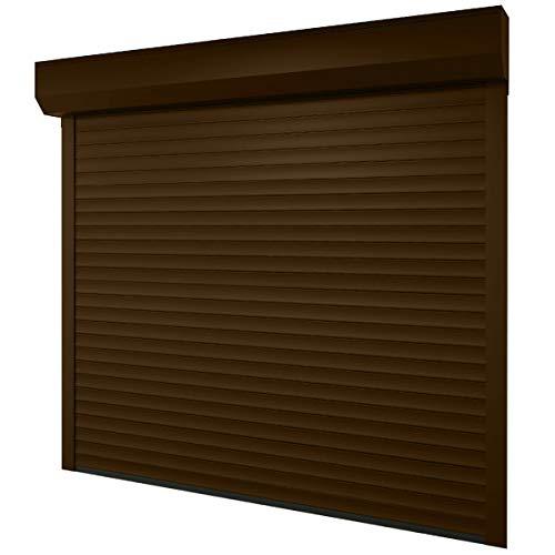 Puerta-de-garaje-268-x-250-cm-medida-de-la-luz-232-x-220-cm-color-marrn-claro