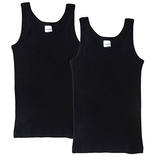 HERMKO 62800 2er Pack Kinder Funktionsunterhemd für Jungen und Mädchen, Farbe:schwarz, Größe:140