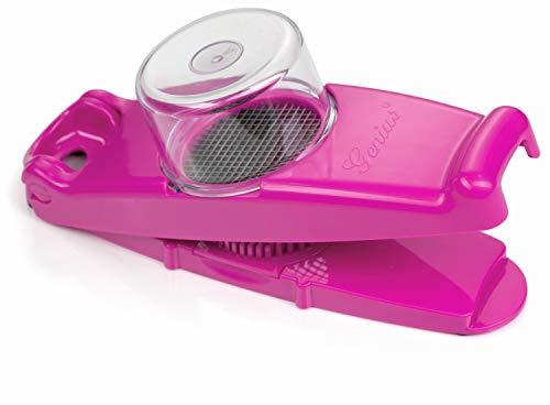 Marke_Genius Genius - Zwiebelschneider Mini Nicer Dicer 3-tlg. mit Mini Würfel 3x3mm Farbauswahl (Pink) - 3 Würfel