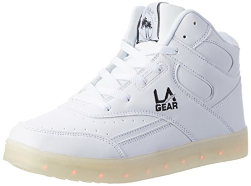 L.A. Gear Unisex-Kinder FLO Lights High-Top, Weiß (White/blk), 35 EU