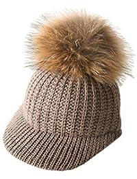 Boomly Carino Caldo Outdoor Inverno a Maglia Berretto da baseball per  Bambini Cappelli in Lana Berretto da sci con… a6bad2a5835c