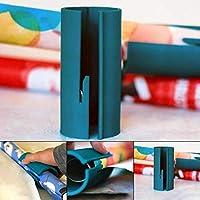 ASHOP Cortador de Papel de Embalaje para el Paquete de Regalo de Navidad Cortador de Papel de Envolver Deslizante Cortador de Rollo de Papel de Envolver / 3pcs Navidad Papel de regalo (Verde, 1PC)