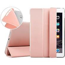 iPad Mini Funda, EssVita Delgado A prueba de choques Suave TPU Carcasa Inteligente Automático Despertador / Dormir Protector magnético Funda para iPad Mini 1/2/3 Oro Rosa