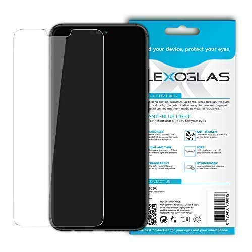 Flexoglas für Huawei P20 Lite Bildschirmschutzfolie mit Blaulichtfilter Panzerglasfolie Transparente Schutzfolie Resistent wie Gehärtetes Glas 9H Härte Anti-Schock Anti-Kratz Folie