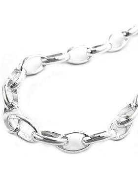 Kette Halskette Ankerkette oval aus 925 Silber Collier Anhängerkette Länge 50 cm Breite 5 mm