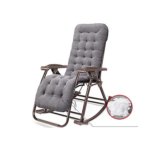 MUMA Chaises longues L-124 Chaise À Bascule Fauteuils Inclinables Chaises Pliantes Sieste Trois Utilisations Chaise De Loisirs Chaise de loisirs (Couleur : Marron)