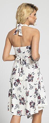 Happy Mama Damen Umstands Asymmetrisch Stillkleid Neckholder Kleid 656p - 4