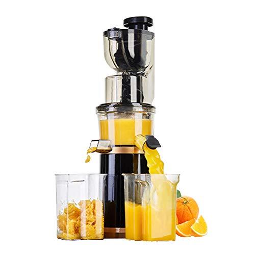 HYYBZ Licuadora Frutas Verduras, Extractor de Zumos Boca Ancha de 80mm con Función Inversa, Fácil de Limpiar, Libre de BPA, 180W, para Frutas y Verduras,Black