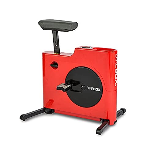 100% Built Exercise Bike Box with Folding Features, Red