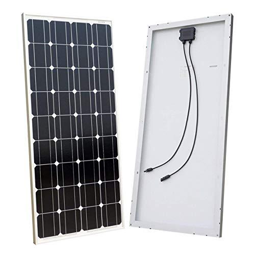 ECO-WORTHY 12V 100W Solarpanel, monokristallines Photovoltaik-PV-Modul zum Aufladen von 12-Volt-Batterie in Wohnwagen, Wohnmobil, Boot, Yacht Iop-modul