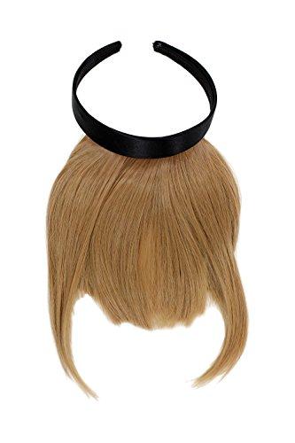 WIG ME UP ® - HA073T-22 Toller Clip-in Pony mit Haarreif für besonders natürliche Wirkung, Blond (22)
