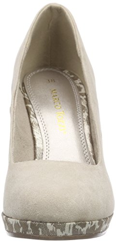 Marco Tozzi 22441, Chaussures à talons - Avant du pieds couvert femme Beige - Beige (DUNE COMB 435)