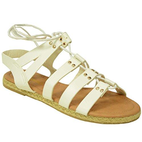 Cucu Fashion , Peep-Toe femme Blanc - Blanc Pu