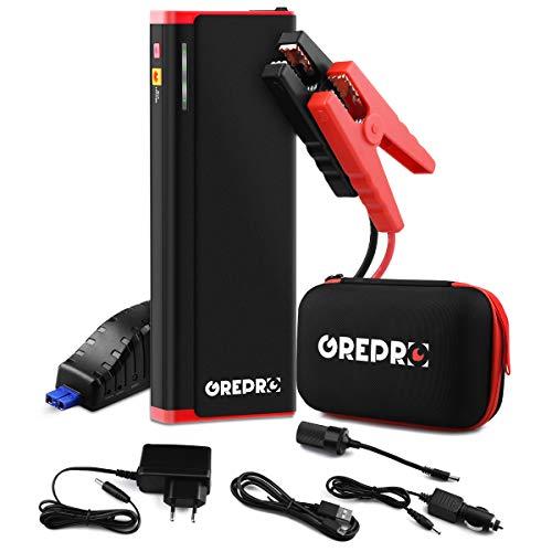 Auto Starthilfe - 1500A 21000mAh Starthilfegerät für 12V Auto,Tragbare Autobatterie Anlasser mit Dual USB,LED Taschenlampe (bis zu 8.0L Benzin, 6.5L Diesel) Batterie-jumper