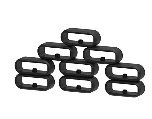 Ruentech Kompatibel mit Garmin Vivomove/Vivomove HR/Vivoactive 3 / Forerunner 645 / Forerunner 645 Music Armband Silikon Verschluss Ring Loop Hoop Clasp Zubehör (10pcs)