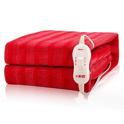 Elektro-fleece-decke (K&L Plüsch Decke,Ultra Soft Decke Für Zu Hause Verdickung Rote Beheizten Elektro - Decke,Red-70x150cm(28x59inch))