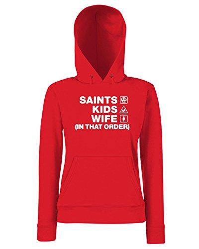 T-Shirtshock - Sweats a capuche Femme WC1241 southampton-saints-kids-wife-order-tshirt design Rouge