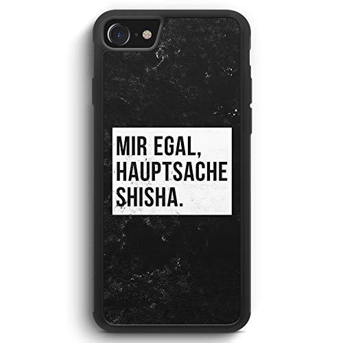 Mir Egal Hauptsache Shisha - Silikon Hülle für iPhone 8 - Motiv Design Cool Witzig Lustig Spruch Zitat Grunge - Cover Handyhülle Schutzhülle Case Schale