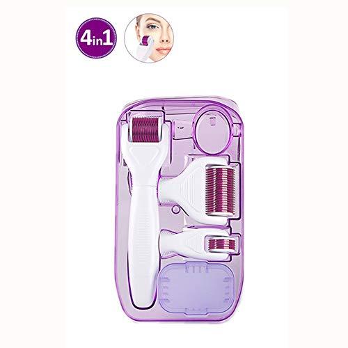 LIGICKY 4-in-1 Derma Roller Set für Augen Gesicht und Körper, 0,5/1,0/1,5mm Aus Medizinstahl Kosmetische Micro-Needling gegen Akne, Falten, Dehnungsstreifen, Haarverlust, Narben und Hyper-Pigmentierun