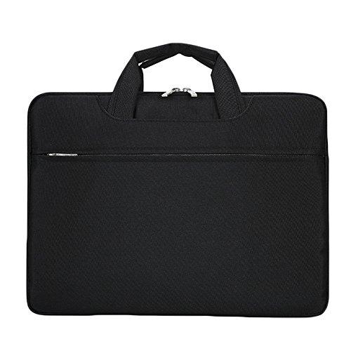 Xuxuou Notebooktasche Laptop-Schutzhülle Wasserdicht Fernseher Laptop Sleeve Case Laptop Tasche von Tablet Tasche MacBook Luft Tasche Schwarz (17 Zoll)