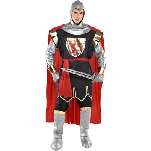 New Herren World Book Day Brave Crusader Ritter Mittelalter Fancy Dress Party Kostüm