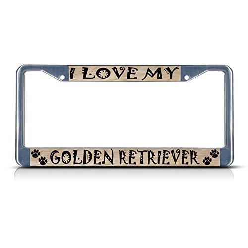 Golden Retriever Hunde-Kennzeichenrahmen, Metall, ideal für Männer und Frauen - Gorilla-automotive-produkte