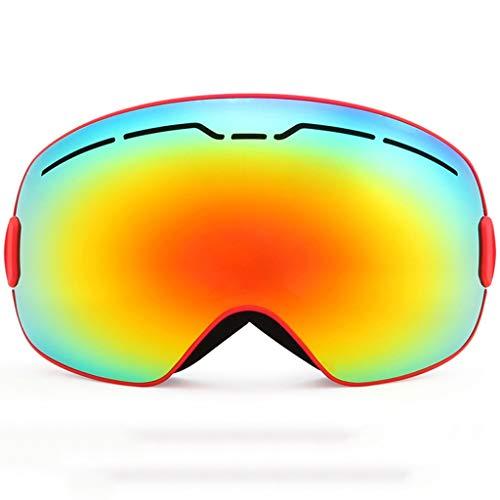 XY&CF-Ski glasses Skibrille Doppel Anti-Fog Hähnchen Myopie Spiegel Winddichte Ausrüstung sphärische Skibrille (Farbe : A)
