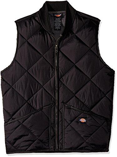 Dickies Herren Quilted Vest Weste, Noir (Black), Herstellergröße: Medium Herren Puffy Jacket